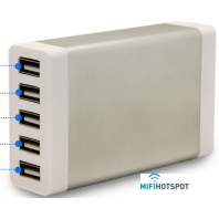 MFC555 USB Charger 5 ports 35W Silver-mifi-hotspot-frontview-1